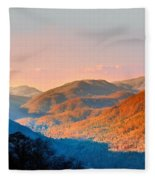 View From Chimney Rock-north Carolina Fleece Blanket