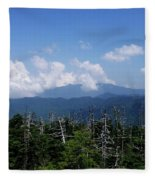 View From Clingman's Dome Fleece Blanket