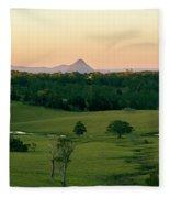 View From Dahmongah Lookout In Mount Mee Fleece Blanket