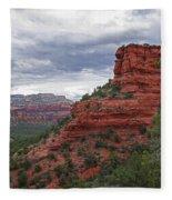 View From Doe Mountain Trail Fleece Blanket