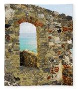 View From Doria Castle In Portovenere Italy Fleece Blanket