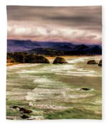 View From Ecola II Fleece Blanket