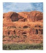 View From Highway 128, Utah Fleece Blanket