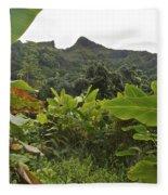 View From Likeke Fleece Blanket