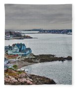 View From Marblehead Lighthouse Fleece Blanket