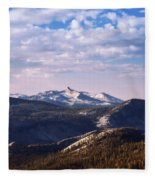View From May Lake Fleece Blanket