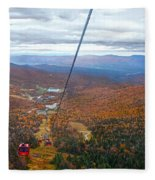 View From Mount Mansfield In Autumn Fleece Blanket