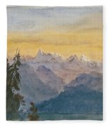 View From Mount Pilatus Fleece Blanket