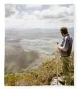 View From Mt Zeehan Tasmania Fleece Blanket