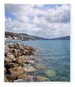 View From North Wall - Lyme Regis Fleece Blanket