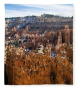 View From Rim Trail Fleece Blanket