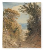View From Rook's Hill, Kent Fleece Blanket