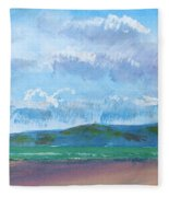View From Sandy Bay Exmouth Fleece Blanket