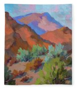 View From Santa Rosa - San Jacinto Visitor Center Fleece Blanket