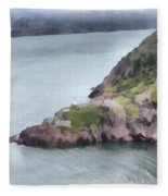 View From Signal Hill Fleece Blanket