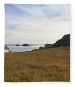 View From St Helen's Oratory Cape Cornwall Fleece Blanket