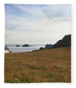 View From St Helen's Oratory Cape Cornwall Fleece Blanket