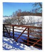 View From The Bridge Fleece Blanket