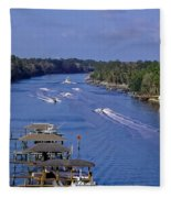 View From The Bridge Of Lions Fleece Blanket