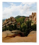 View From The Crags Fleece Blanket