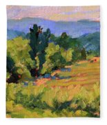View From The Orchard Fleece Blanket