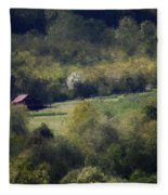 View From The Pond At The Hacienda Fleece Blanket