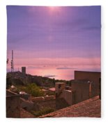 View From The Top In Sicily 2 Fleece Blanket
