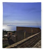 View From The Top In Sicily Fleece Blanket