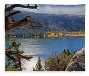 View From The Top Of June Lake Fleece Blanket