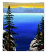 View From The Trail Fleece Blanket