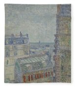 View From Theo S Apartment Paris, March - April 1887 Vincent Van Gogh 1853  1890 Fleece Blanket