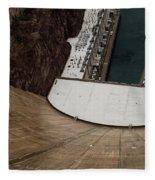 View From Top Of Hoover Dam Fleece Blanket
