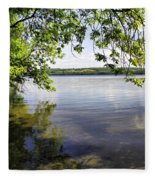 View From Under At Lake Carmi Fleece Blanket