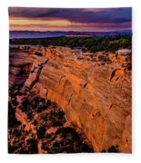 View From Upper Ute Canyon, Colorado National Monument Fleece Blanket