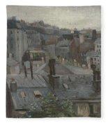 View From Vincent S Studio Paris, June 1886 Vincent Van Gogh 1853  1890 Fleece Blanket