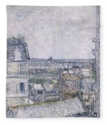 View From Vincent's Room In The Rue Lepic Fleece Blanket