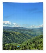 View From White Bird Hill Fleece Blanket