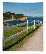 View In Perce Quebec Fleece Blanket