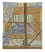 View Of A Butcher S Shop Arles, February 1888 Vincent Van Gogh 1853  1890 Fleece Blanket
