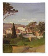 View Of A Villa Fleece Blanket