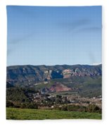View Of A Village In Valley, Santa Fleece Blanket
