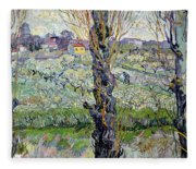 View Of Arles Fleece Blanket