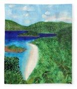 View Of Beach In St John Us Virgin Islands  Fleece Blanket