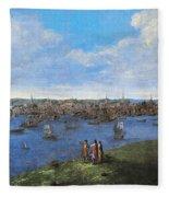 View Of Boston, 1738 Fleece Blanket