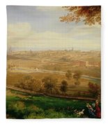View Of Bradford Fleece Blanket