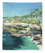 View Of Brockton Villa, La Jolla, California Fleece Blanket