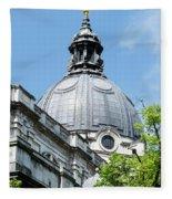 View Of Brompton Oratory Dome Kensington London England Fleece Blanket