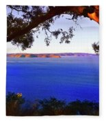 View Of  Central Coast From West Head  Fleece Blanket