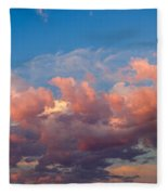 View Of Clouds In The Sky Fleece Blanket