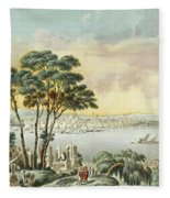 View Of Constantinople From The Marmara Sea Fleece Blanket